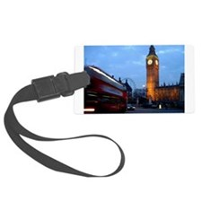 Cute London england Large Luggage Tag