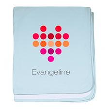 I Heart Evangeline baby blanket