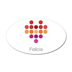I Heart Felicia Wall Decal