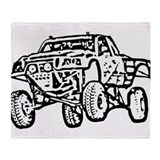 Jump Truck Throw Blanket