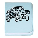 Jump Truck baby blanket