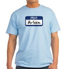 Hello: Arleen Ash Grey T-Shirt