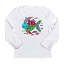 FISH MOLA DESIGN Long Sleeve T-Shirt