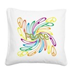 Peace Symbols Square Canvas Pillow
