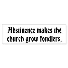 Abstinence Bumper Sticker