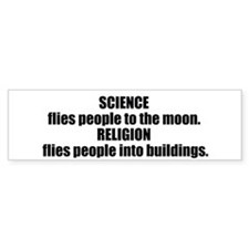 Science Flies Bumper Sticker