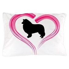 Heart My Collie Pillow Case