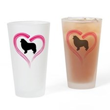 Heart My Collie Drinking Glass