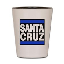 santacruz blue Shot Glass