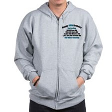 40th Birthday T-shirt Zip Hoodie