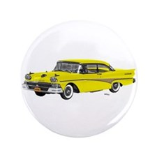"1958 Ford Fairlane 500 Yellow 3.5"" Button"