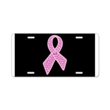 Unique Pink ribbon Aluminum License Plate