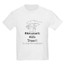 Funny Kids  Kids T-Shirt with shop logo on back