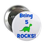 Being 5 Rocks! Dinosaur Button
