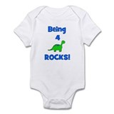 Being 4 Rocks! Dinosaur Infant Bodysuit