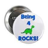 Being 4 Rocks! Dinosaur Button