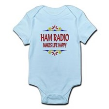 Ham Radio Life Happy Infant Bodysuit