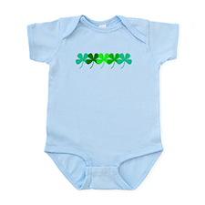 Irish Green Clovers St. Patricks Day 3 Baby Onesie
