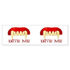 Bite Me Design Bumper Bumper Sticker