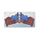 Star spangled Banner Aluminum License Plate