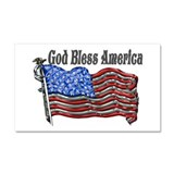 God Bless America Car Magnet 20 x 12