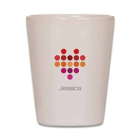 I Heart Jessica Shot Glass