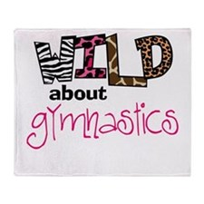 Wild about Gymnastics Throw Blanket