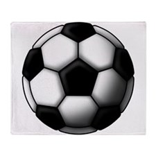 soccer ball 2 Throw Blanket