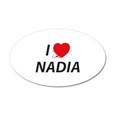 I Love Nadia - Dexter 38.5 x 24.5 Oval Wall Peel