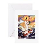 Cute Quan yin Greeting Card