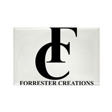 Forrester Creations Logo 01.png Rectangle Magnet