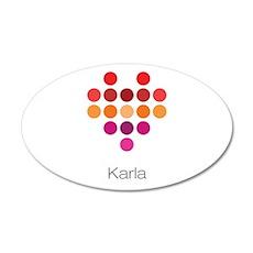 I Heart Karla Wall Decal