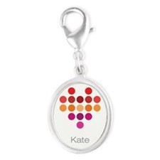 I Heart Kate Silver Oval Charm