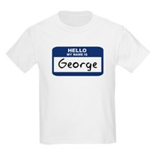 Hello: George Kids T-Shirt