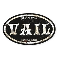 Vail Black Grunge Rust Decal