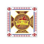 The Knights Templar Rectangle Sticker