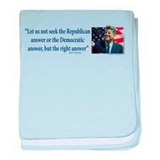 John F Kennedy baby blanket