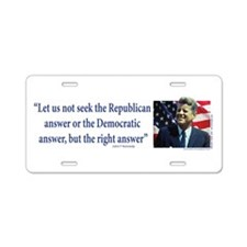 John F Kennedy Aluminum License Plate
