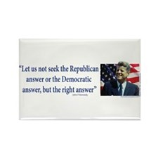 John F Kennedy Rectangle Magnet (100 pack)
