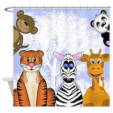 Zoo Animals Shower Curtain