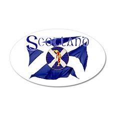 Scotland golf flag Wall Sticker