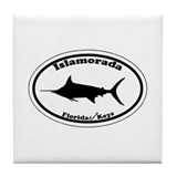 Islamorada - Oval Design. Tile Coaster