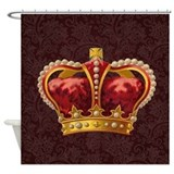 Royal Crown of Gold Shower Curtain