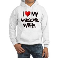 I Heart My Awesome Wife Hoodie