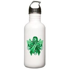 I Wear Green for my Husband Water Bottle