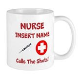 Personalize Nurse Calls Shots Small Mugs