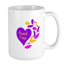 Proud Nana Heart Mug