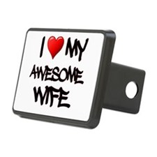 I Heart My Awesome Wife Hitch Cover