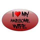 I Heart My Awesome Wife Decal