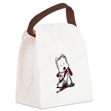 LET'S GO! Westie Canvas Lunch Bag